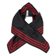 KENZO Silk Painted Logo Square Scarf - Black