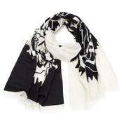 KENZO Modal Tiger Chest Icon Scarf - White/Black