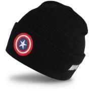 Marvel Men's Captain America Shield Beanie - Black