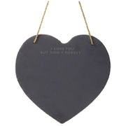 Parlane Heart Slate Memo Board - Black (30 x 29cm)