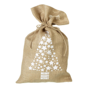 Parlane Tree Jute Christmas Sack - White (50 x 30cm)