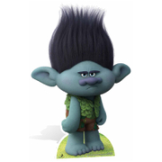 Trolls Branch the Survivalist Kartonnen Figuur