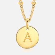Missoma Women's Initial Charm Necklace - A - Gold