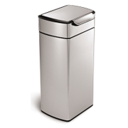 simplehuman Rectangular Brushed Steel Touch Bar Bin 30L