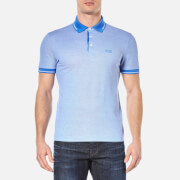 BOSS Green Men's Vito Tipped Polo Shirt - Medium Blue