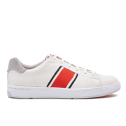 PS by Paul Smith Men's Lawn Stripe Trainers - White Mono Lux