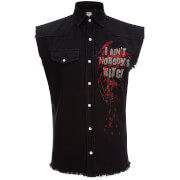 Spiral Men's Walking Dead Daryl Wings Sleeveless Shirt - Black