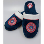 Marvel Men's Captain America Mule Slippers - Navy - UK 8-10