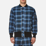 Vivienne Westwood Anglomania Men's Berry Bomber Jacket - Tartan Blue/Black