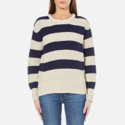 Maison Scotch Women's Cotton Mix Pullover with Shaped Sleeves - Multi