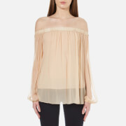 Sportmax Code Women's Luchino Off The Shoulder Top - Powder