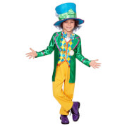 Alice in Wonderland Boys' Mad Hatter Fancy Dress Costume