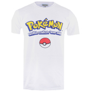Pokemon Herren Gotta Catch Em All Logo T-Shirt - Weiß