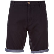 Brave Soul Men's Hansen Cham Chino Shorts - Navy