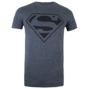 DC Comics Men's Mono Superman T-Shirt - Dark Heather