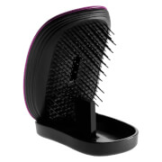 ikoo Pocket Detangling Hair Brush - Black/Cherry Metallic