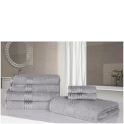 Highams 100% Egyptian Cotton 7 Piece Towel Bale (500gsm) - Grey