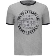 T-Shirt Homme Double Stitched Tokyo Laundry -Gris Chiné