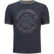 Tokyo Laundry Men's Double Stitched T-Shirt - Mood Indigo Marl