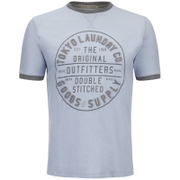 Tokyo Laundry Men's Double Stitched T-Shirt - Starlight Blue