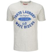 Tokyo Laundry Men's Wave Riders T-Shirt - Oatgrey Marl