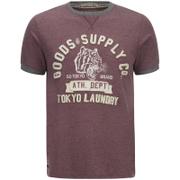Tokyo Laundry Men's Tiger Lake T-Shirt - Bordeux Marl