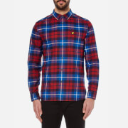 Lyle & Scott Men's Check Flannel Shirt - Navy/Red
