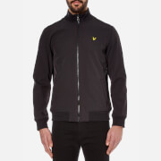 Lyle & Scott Men's Zip Through Funnel Neck Soft Shell Jacket - True Black