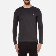 Lyle & Scott Men's Plain Long Sleeve T-Shirt - Charcoal Marl