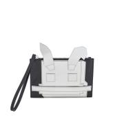 McQ Alexander McQueen Women's Electro Bunny Pouch - Silver/Black