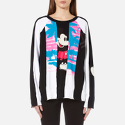 Marc Jacobs Women's Long Sleeve Raglan Sweatshirt - Black/Multi