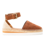 See by Chloe Women's Leather Espadrille Sandals - Suola Tan