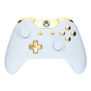 Custom Controllers Xbox One Controller - Piano White & Gold Buttons