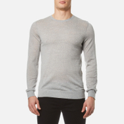 HUGO Men's San Lorenzo Crew Knitted Jumper - Open Grey