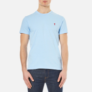 AMI Men's Heart Logo T-Shirt - Sky Blue