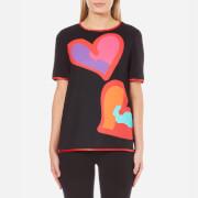 Boutique Moschino Women's Big Heart T-Shirt - Black