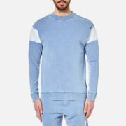 BOSS Orange Men's Wham Crew Neck Sweatshirt - Open Blue