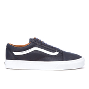 Vans Men's Old Skool Premium Leather Trainers - Parisian Night/True White