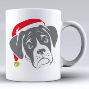 Taza Perro bóxer Papá Noel
