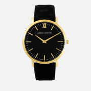 Larsson & Jennings Lugano 40mm Leather Watch - Gold/Black/Black