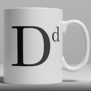 Alphabet Keramik Designer Tasse - Buchstabe D