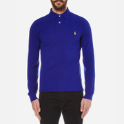 Polo Ralph Lauren Men's Long Sleeved Custom Fit Polo Shirt - Heritage Royal