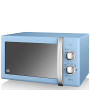 Swan 800W Manual Microwave - Blue