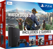 PlayStation 4 Slim 500GB with Watchdogs and Watchdogs 2