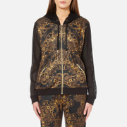 Versace Jeans Women's Multi Print Hooded Top - Black