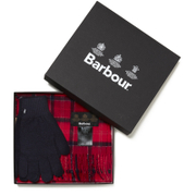 Barbour Scarf and Gloves Set - Cardina