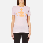 Vivienne Westwood Anglomania Women's Embroidered Orb T-Shirt - Lilac