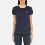 GANT Women's Cotton/Elastane Crew Neck T-Shirt - Marine