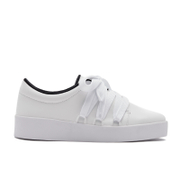 Senso Women's Arna Leather Low Top Trainers - Ebony