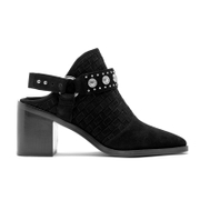 Senso Women's Hanna Suede Heeled Ankle Boots - Ebony